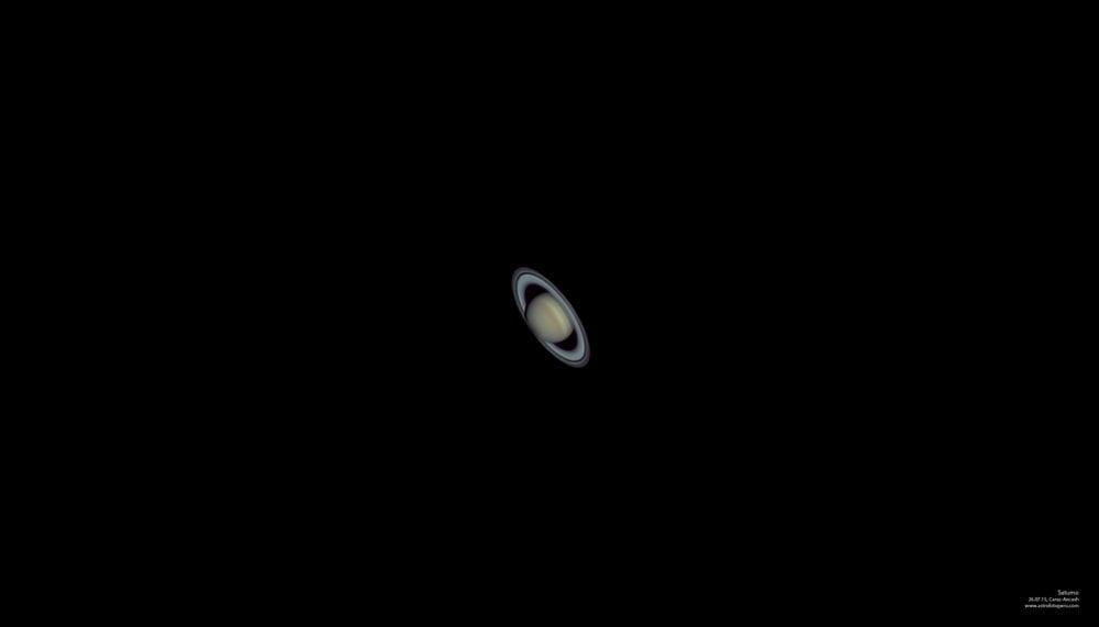 Planeta Saturno captado con telescopio desde Caraz