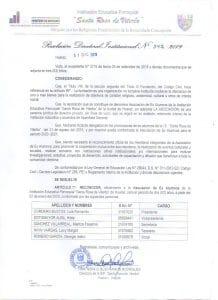 Reconocimiento del Colegio Santa Rosa de Viterbo